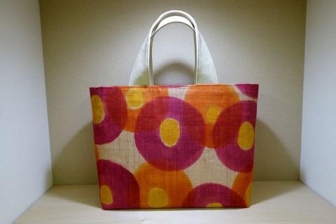 和小物さくら作楽展2015 麻の友禅手描きバッグ