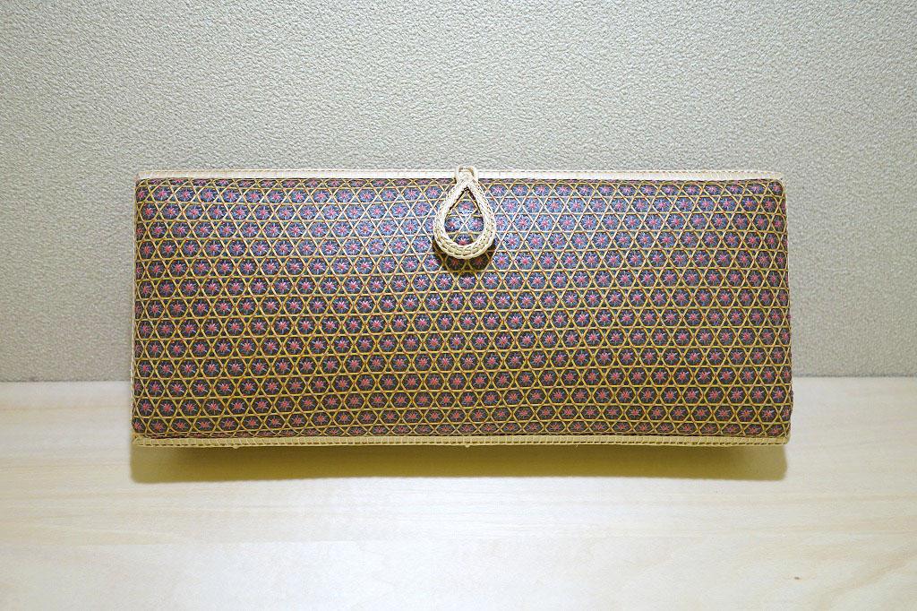 和小物さくら タイ製竹細工クラッチバッグ
