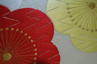 横振り京刺繍バッグ 梅の柄
