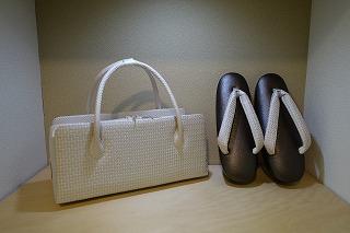 博多織帯地のぞき花緒 草履とバッグ