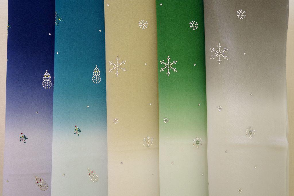 和小物さくら クリスマス帯揚 スワロフスキー