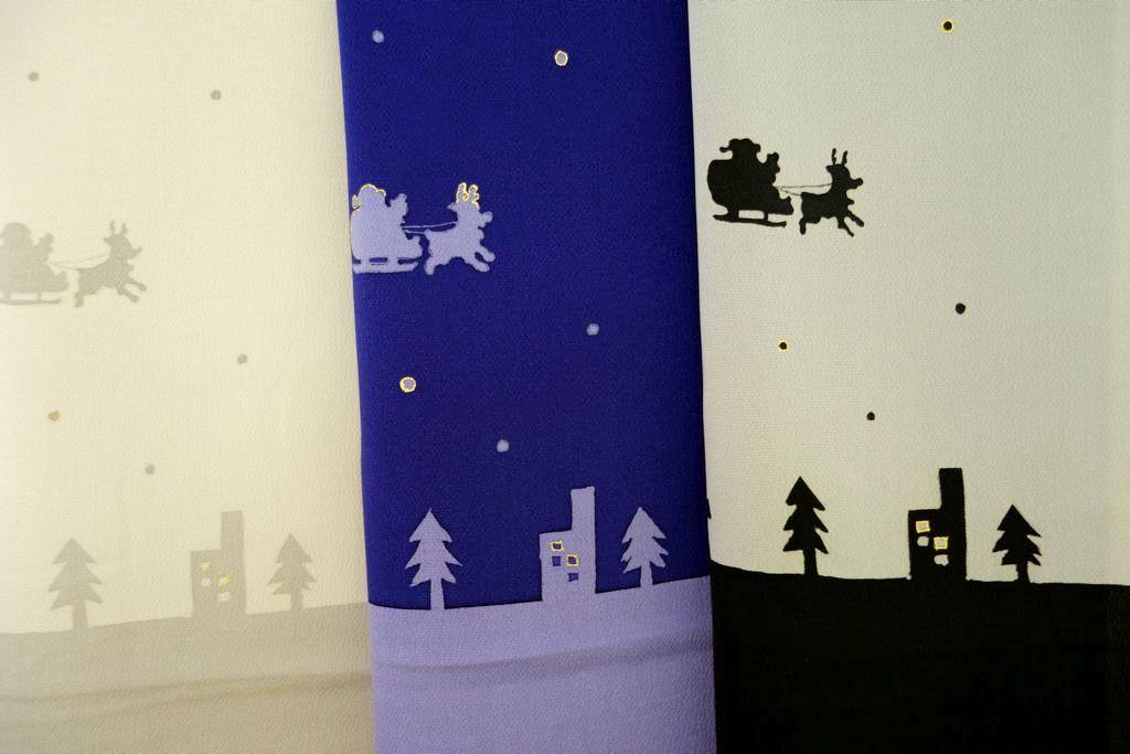 和小物さくら クリスマス帯揚 サンタクロース