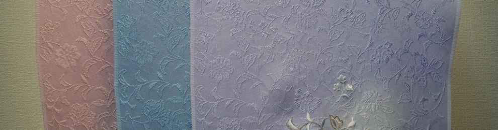 唐織唐花詰丸取ぼかし更紗刺繍