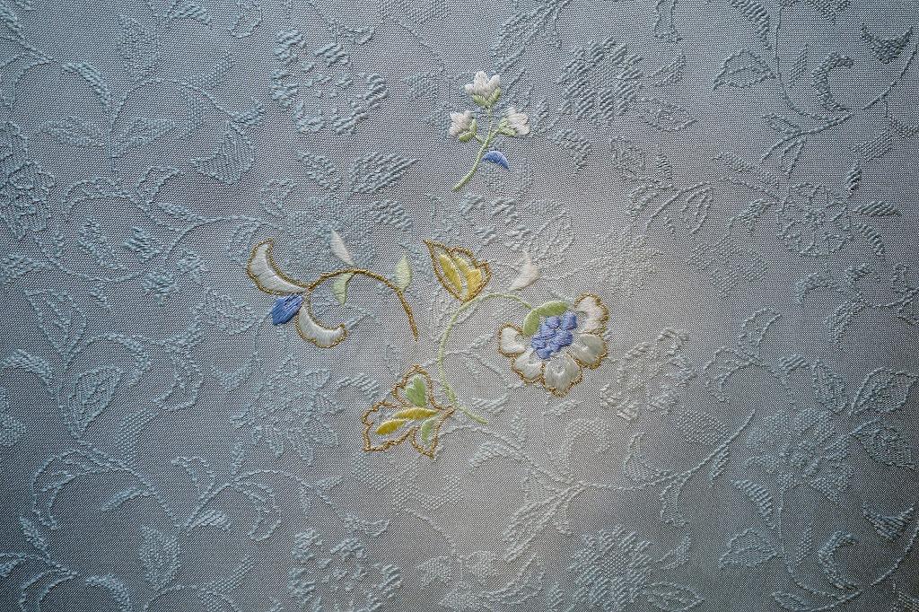 和小物さくら 帯揚 唐織唐花詰丸取ぼかし更紗刺繍