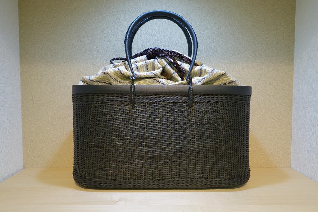 和小物さくら 巾着竹かごバッグ