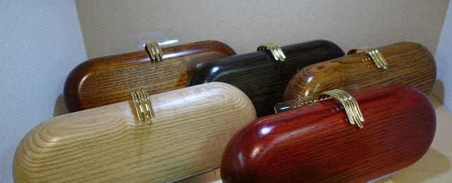 天然木クラッチバッグ 「黒革の手帖」に登場